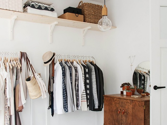 How to Maximize Closet Space When You Don't Have One